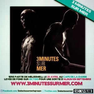 3 minutes sur mer pochette de l'album chanson française underground - Guilhem Valayé - Samuel Cajal