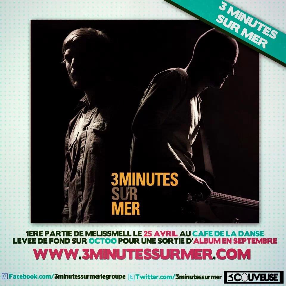 3 minutes sur mer pochette de l'album chanson française underground