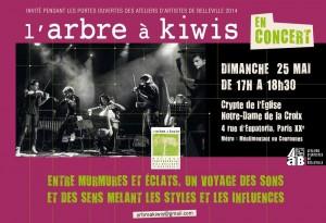 L'Arbre à Kiwis en concert à Paris affiche