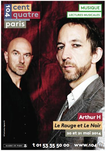 Arthur H & Nicolas Repac - Le rouge et le noir - concert Paris au Centquatre - 104