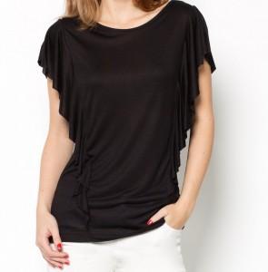 T shirt volanté manches courtes vendu sur La Redoute