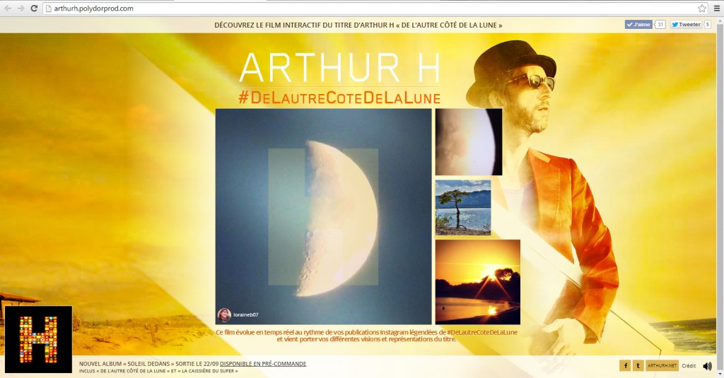 Arthur H - De l'autre côté de la lune - Soleil dedans