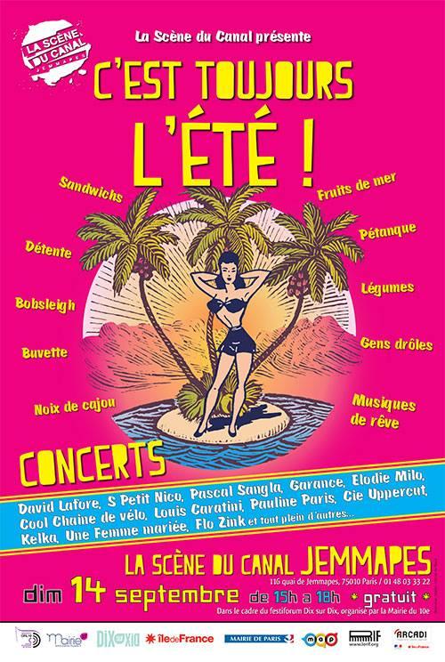 Scène du Canal Jemmapes - concert - David Lafore - chanson française underground Paris