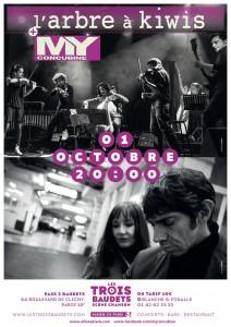 MY Concubine - L'Arbre à kiwis - Les Trois Baudets - concert chanson française pop rock indés Paris