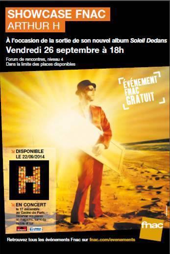 Arthur H - Soleil dedans - Fnac - concert Paris