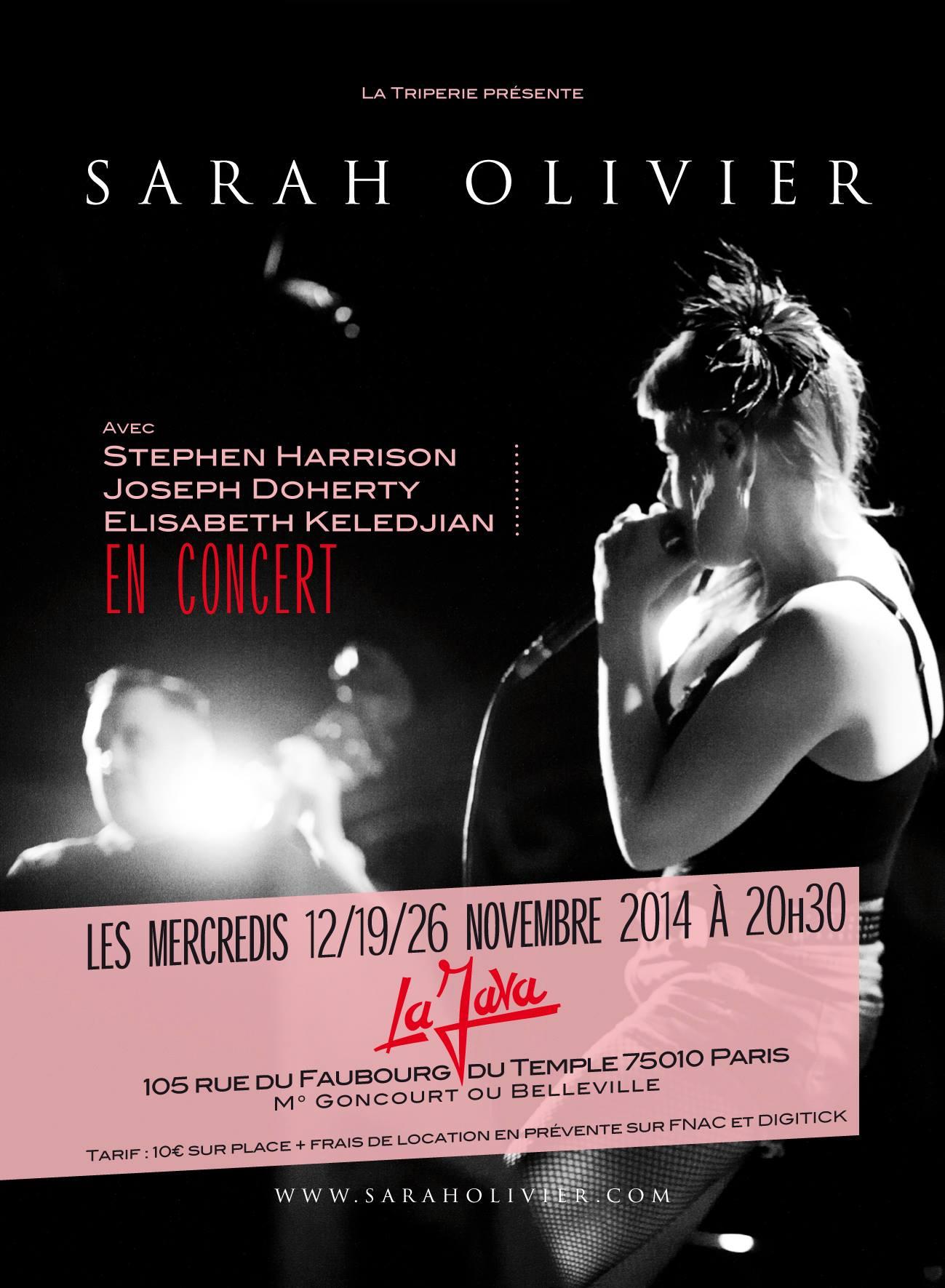 Sarah Olivier - La Java concert Paris - chanson française underground rock indés
