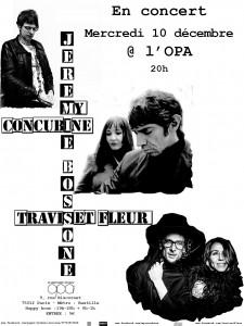 Jérémie Bossone + MY Concubine + Travis Bürki et Fleur Offwood - Concert OPA Paris - Scène rock française indé