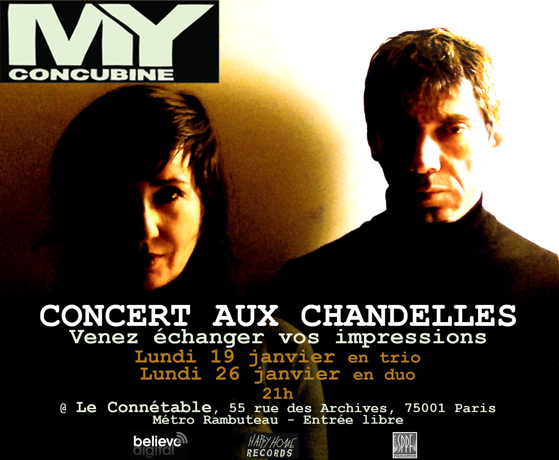 MY Concubine - Concert Paris Le Connétable - Scène rock française indé